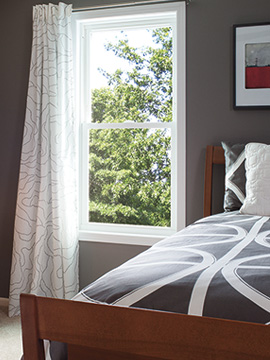 pella 250 series single hung window bedroom peace and quiet